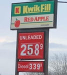 AAA: Butler Gas Prices Down 14 Cents From Last Week